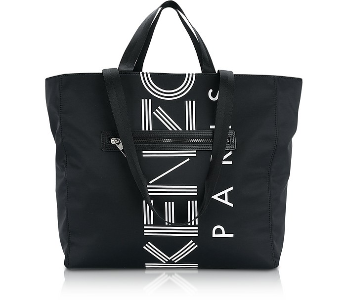 Kenzo Black Nylon Kenzo Logo Tote Bag at FORZIERI Canada 1c964c0192209