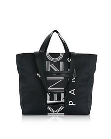 Black Nylon Kenzo Logo Tote Bag - Kenzo