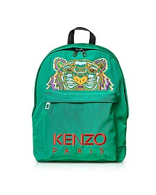 Grass Green Canvas Large Tiger Backpack - KENZO / ケンゾー