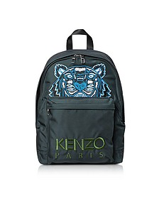 Dark Gray Canvas Large Tiger Backpack - KENZO / ケンゾー