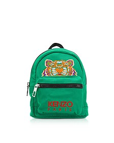 Grass Green Canvas Mini Tiger Backpack - Kenzo