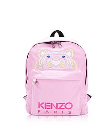 Flamingo Pink Canvas Medium Tiger Backpack - Kenzo