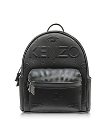 Black Perforated Nylon Kombo Backpack - Kenzo
