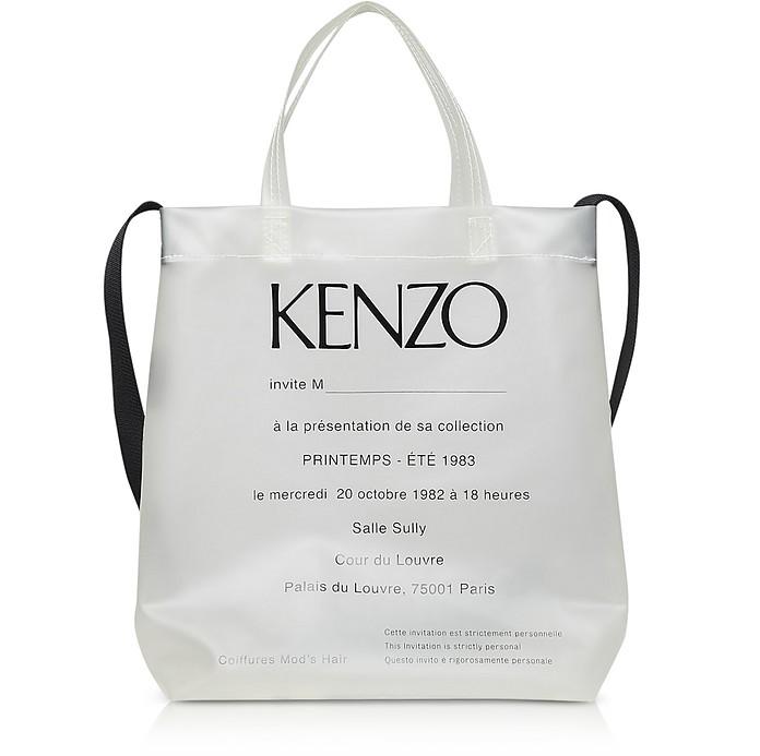 Durchsichtiger Shopper 1983 mit Runway Invitation Print - Kenzo
