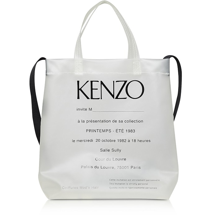 1983 Invitation Runway Print Transparent Tote Bag - Kenzo