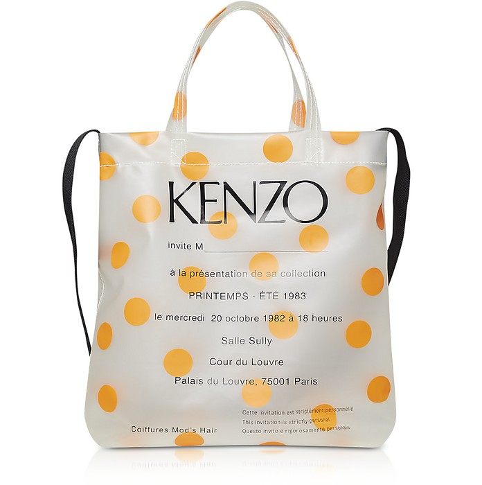 1983 Invitation Runway Print Transparent Tote Bag - KENZO / ケンゾー