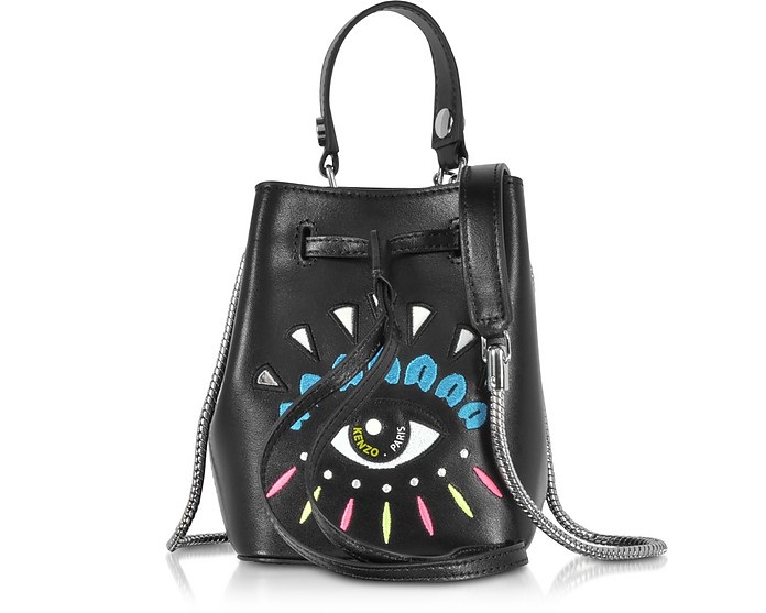 Eye Mini Secchiello in Pelle con Tracolla - Kenzo