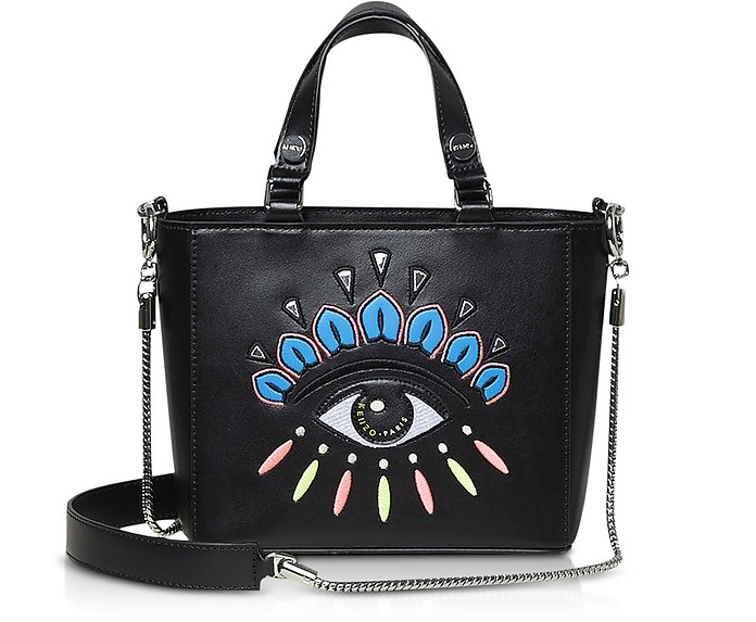 6217da9664e Kenzo Black Small Eye Leather Tote Bag at FORZIERI