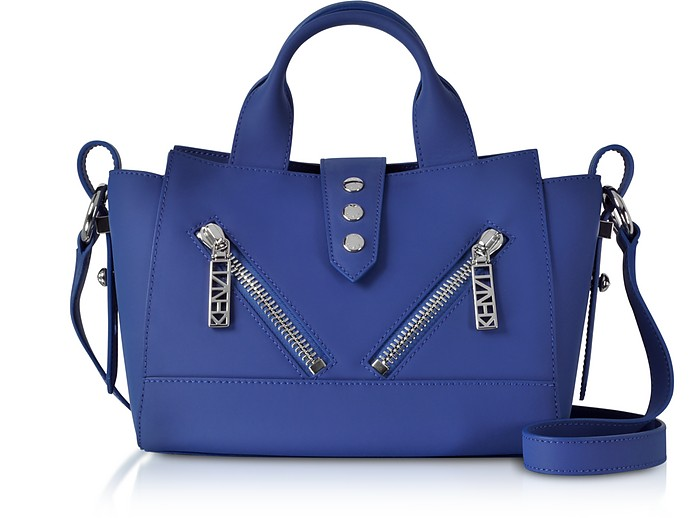 Cobalt Blue Mini Kalifornia Gommato Leather Handbag - Kenzo
