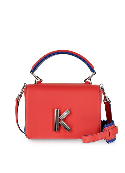 Red Leather K-Bag - Kenzo