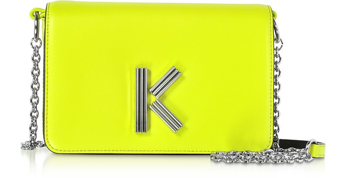 Citron Leather K-Bag Chainy bag - Kenzo