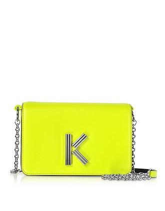 5bad9b4f7efc Citron Leather K-Bag Chainy bag - Kenzo