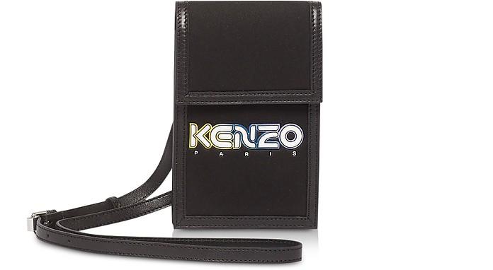 Black Kombo Phone Holder on Strap - Kenzo