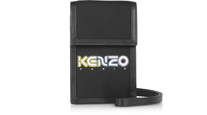 Black Kombo Phone Holder on Strap - Kenzo