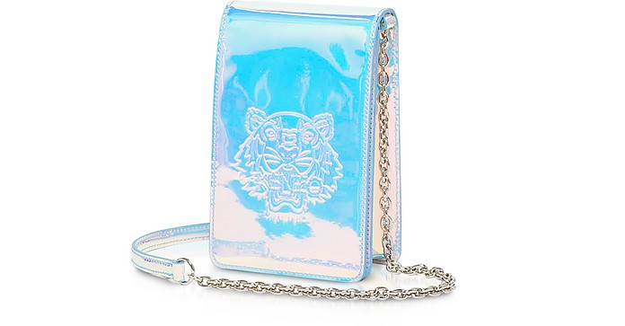 White Preppy Tiger Embossed Phone on a Chain - Kenzo