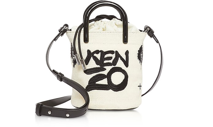 Off White Signature Mini Tote Bag - Kenzo