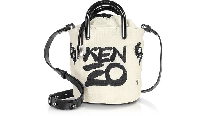 Off White Signature Mini Tote Bag - Kenzo