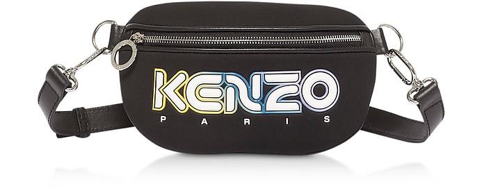 Kombo Sac Ceinture en Neoprene Noir avec Logo  - Kenzo