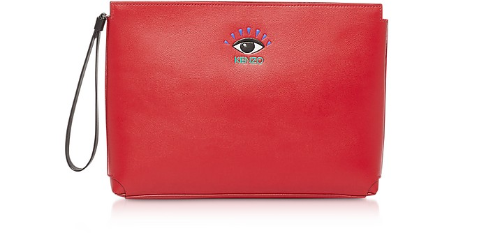 Cut Out Clutch en Cuir avec Logo - Kenzo