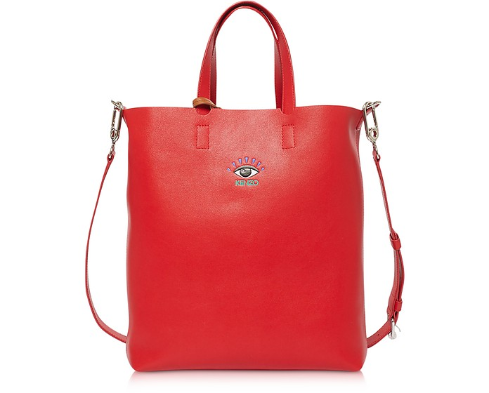 Shopper Eye Small in Pelle con Tracolla - Kenzo