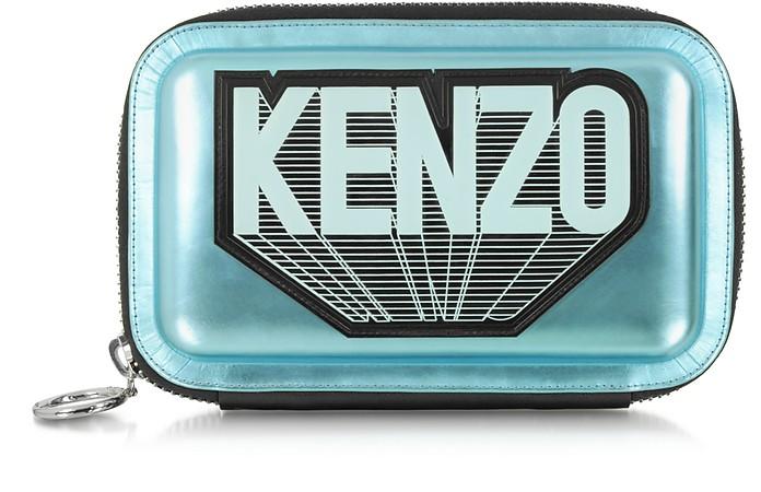 Metallic Leather Kenzo Clutch - Kenzo