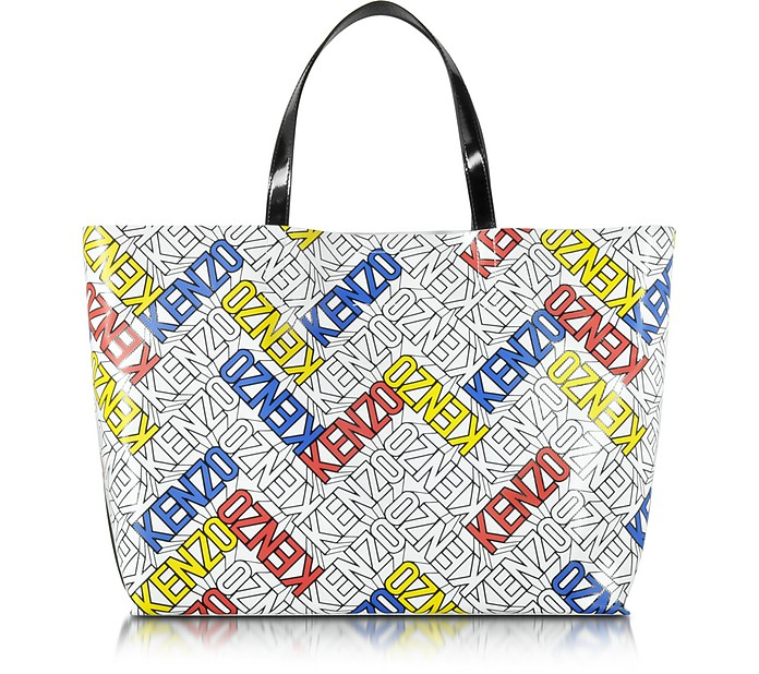 taille 40 c6308 34be3 Kenzo Flying Kenzo - Cabas en PVC Multicolore