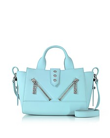 Light Blue Gommato Leather Mini Kalifornia Handbag - Kenzo