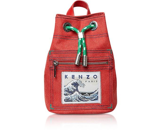 Mini Red Denim Kanagawa Wave Rucksack Kenzo 541ZjvskX