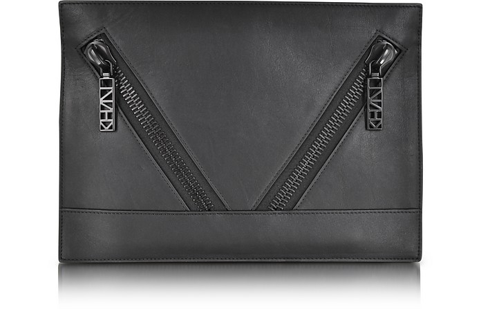 Kalifornia Black Calf Leather Pouch - Kenzo
