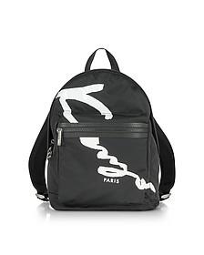 Kenzo Signature Black Fabric Medium Backpack - Kenzo
