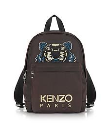 Burgundy Canvas Medium Tiger Backpack - Kenzo