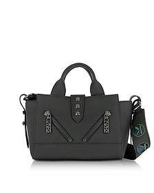 Kalifornia Black Gommato Leather Mini Tote Bag w/Animated Strap - Kenzo