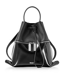 Black Patent Leather Backpack - Kenzo