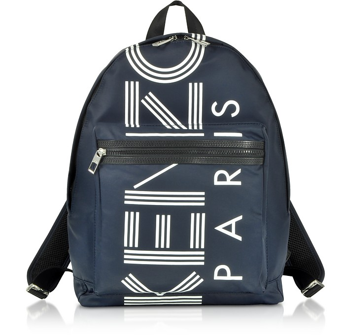 Large Navy Blue Logo Backpack - Kenzo