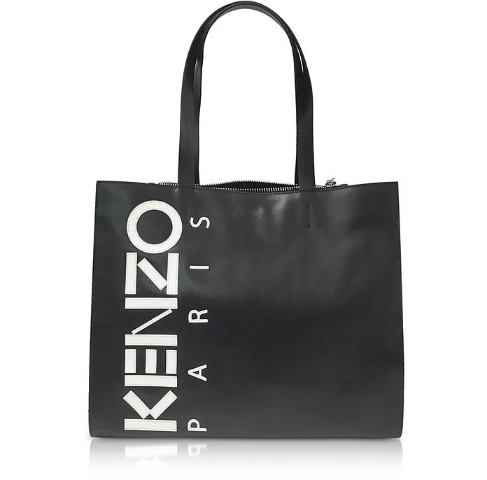 Black Leather Kenzo Sport Tote Bag - Kenzo