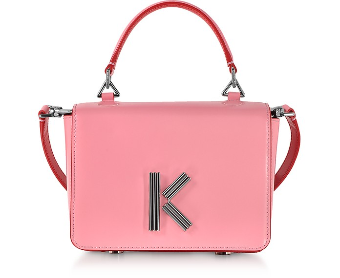 Medium Faded Pink Leather Crossbody K-Bag - Kenzo