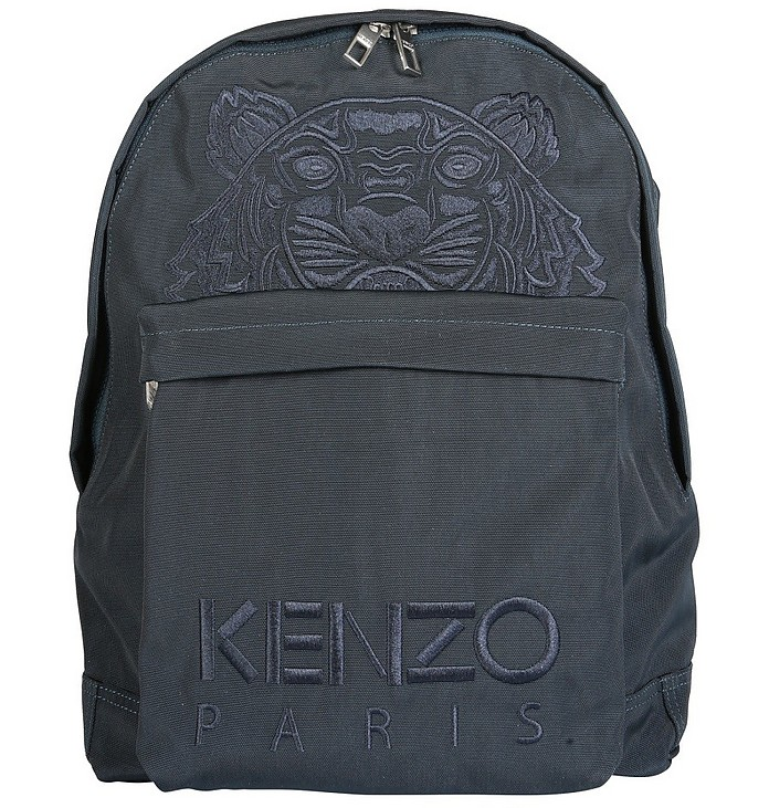 Black Backpack With Logo and Front Zip Pocket - Kenzo