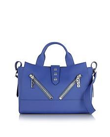 Blue Gommato Leather Kalifornia Tote Bag