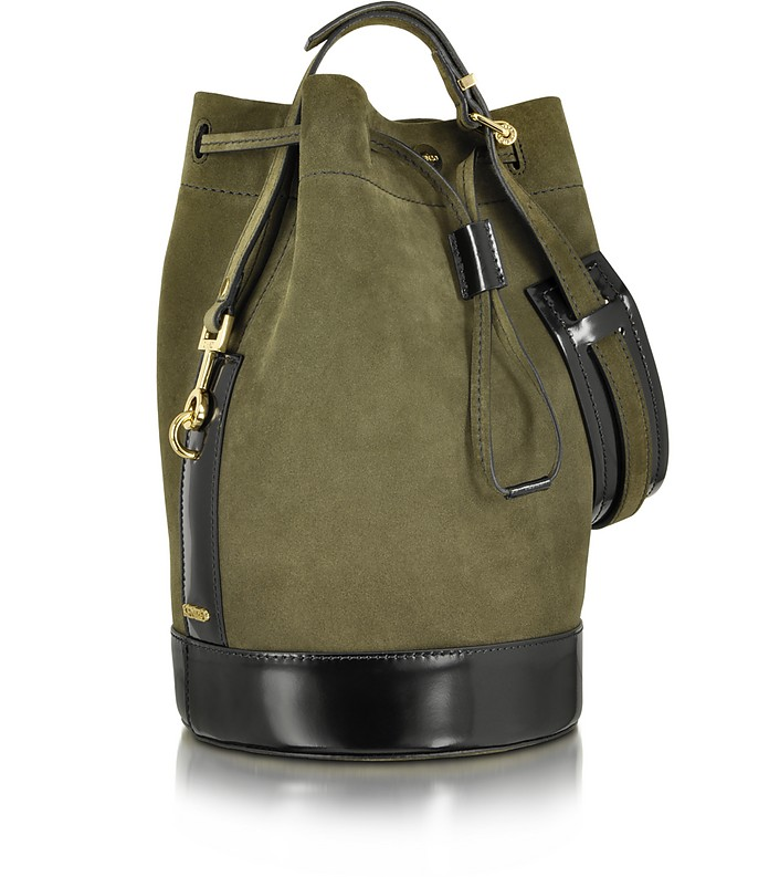 4b051cef7b5 Bike Suede Tea Green Leather Bucket Bag - Kenzo. Sold Out