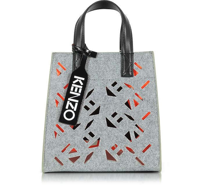 8c765a382 Kenzo Flying Kenzo Pale Grey Fabric Mini Tote bag at FORZIERI