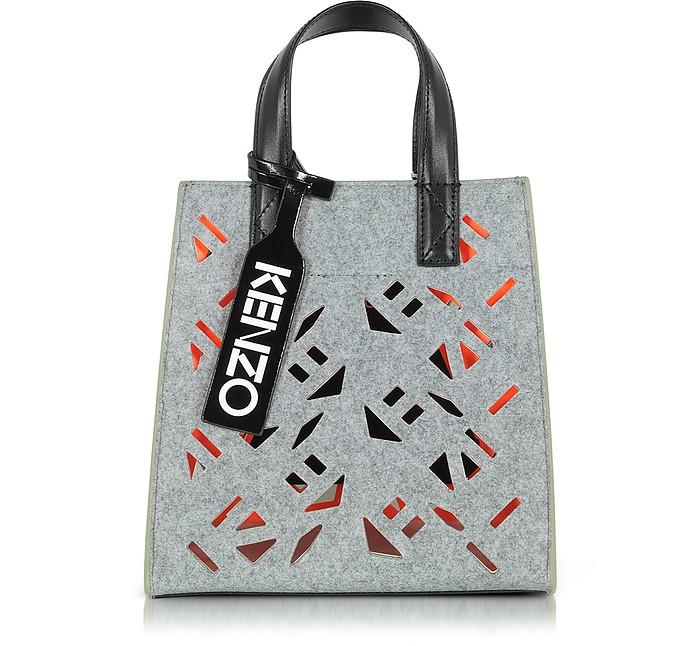 77266a89e3c Kenzo Flying Kenzo Pale Grey Fabric Mini Tote bag at FORZIERI