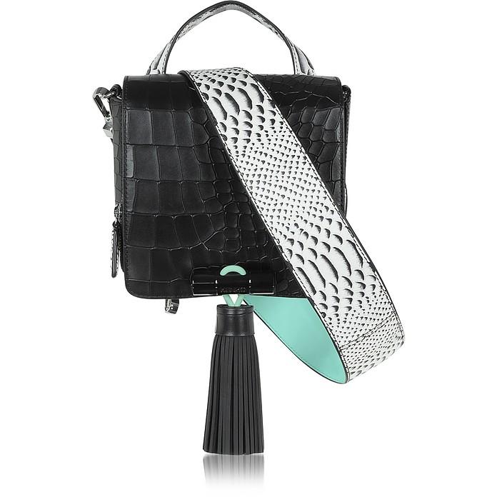e69f4793e3 Kenzo Black Embossed Croco Leather Sailor Bag at FORZIERI UK