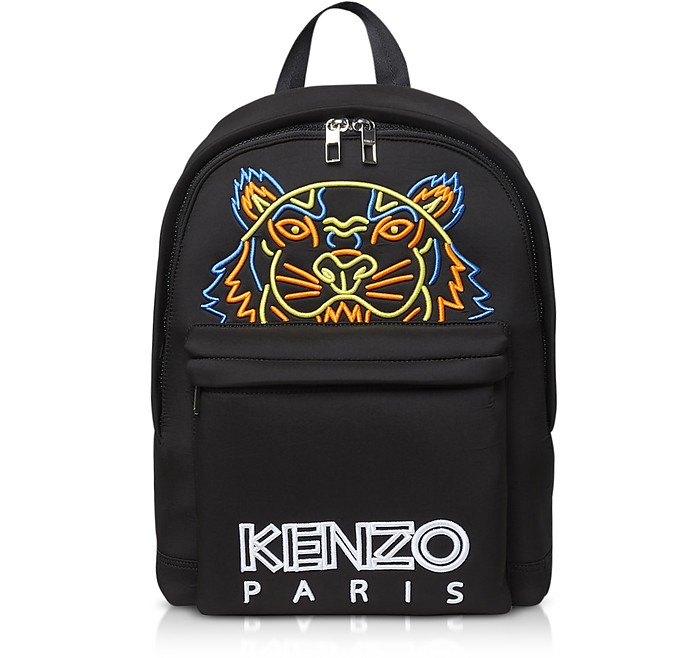 Large Black Neoprene Tiger Backpack - Kenzo
