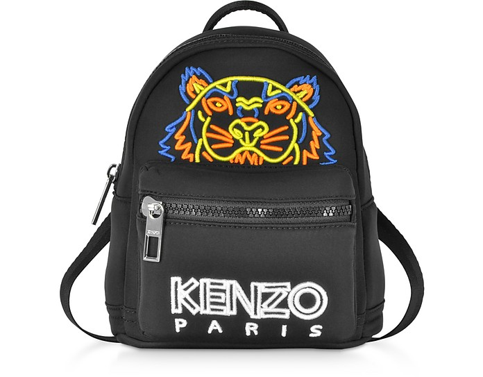 Mini Black Neoprene Tiger Backpack  - Kenzo