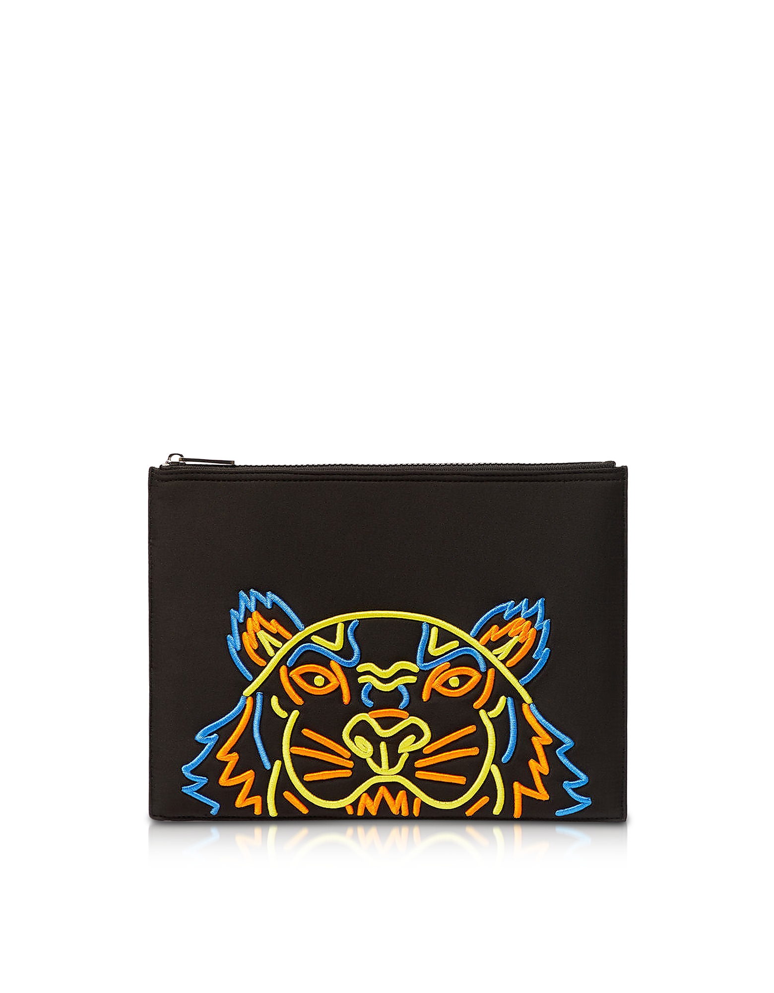Kenzo Tops BLACK TIGER A4 CLUTCH