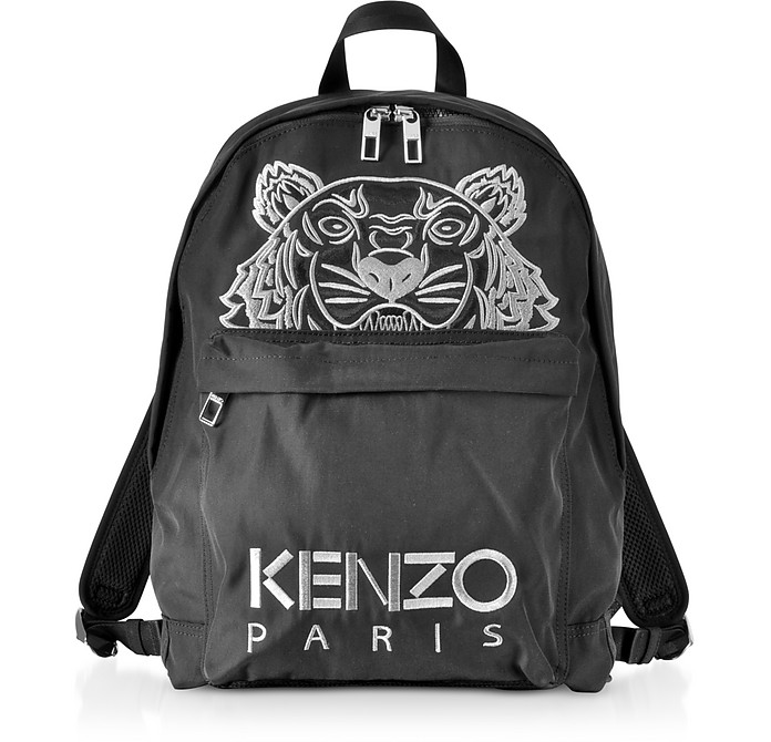 Black Tiger Nylon Backpack - Kenzo