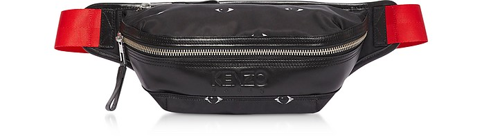 Kenzo Belt Eyes Print Black Nylon Belt Bag
