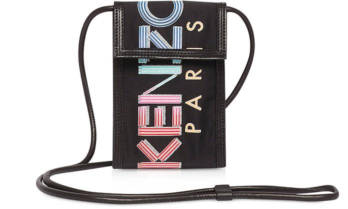 Sport Animation Black Nylon Phone Holder on Strap - Kenzo