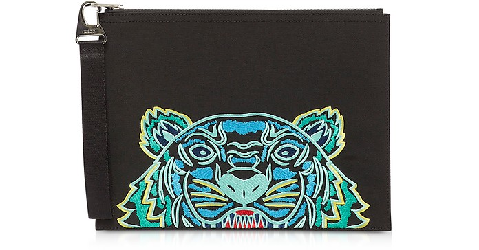 Kampus Canvas Tiger Large Pouch - Kenzo