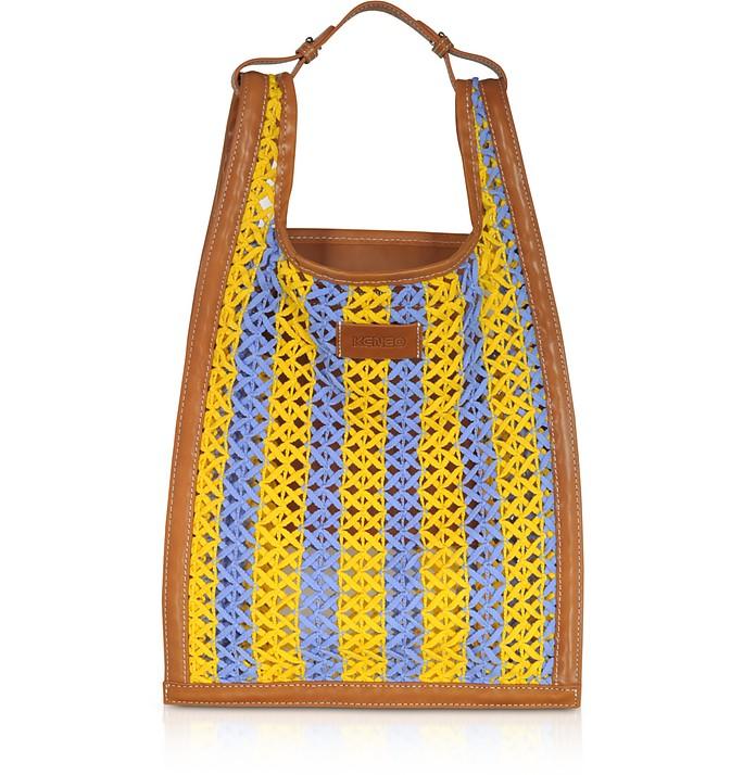 Lemon Yellow Weaving Cord Tote Bag - Kenzo